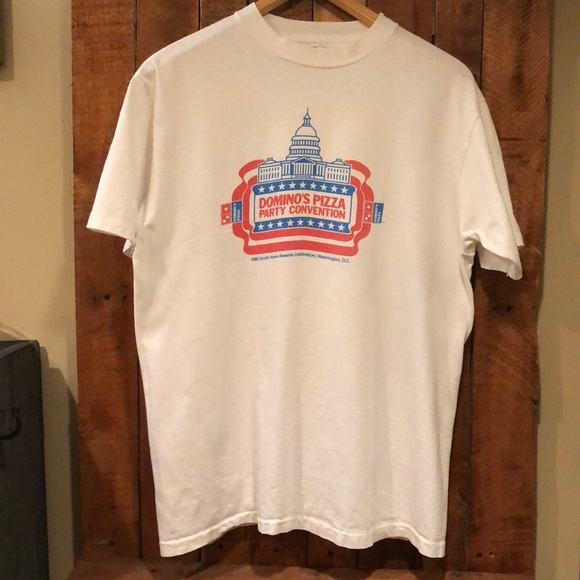 Hanes Beefy T Other - Vintage 1985 Dominos Pizza Beefy T-shirt. Size L